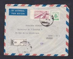 Recommandé Liban Registred Beyrouth Vers Journal Le Progres à Lyon En 1954 - Lebanon