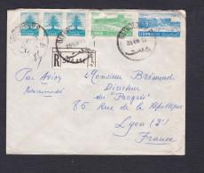 Recommandé Liban Registred Beyrouth Vers Journal Le Progres à Lyon En 1953 - Lebanon
