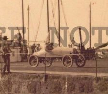 URUGUAY CA1900 REAL PHOTO POSTCARD RACECAR VEHICLE CAR ON PORT TELESCA PHOTO - Cartes Postales