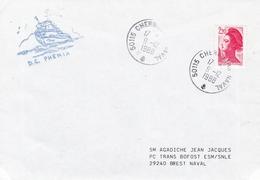 DRAGUEUR COTIER PHENIX  CHERBOURG NAVAL 9/12/1988 - Poststempel (Briefe)