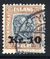 ICELAND 1930 10 Kr. On 5 Kr.  Surcharge Used. Michel 141 - Used Stamps