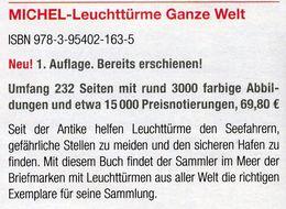 Erstauflage MICHEL Motiv Leuchttürme 2017 ** 70€ Topic Stamp Catalogue Lighthous Of The World ISBN978-3-95402-163-5 - Kreative Hobbies