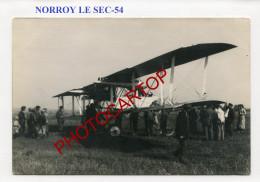 NORROY LE SEC-Avion (VOISIN VIII-?) Abattu-7-10-17-CARTE PHOTO Allemande-Guerre 14-18-1 WK-Aviation-FRANCE-54-Militaria- - Autres Communes