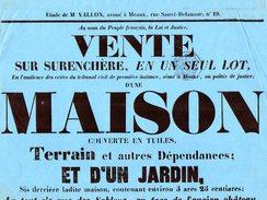 VP6260 - Meaux - Affiche 28 X 42 - Vente D'une Maison & D'un Jardin à NANTOUILLET Canton De CLAYE SOUILLY - Posters
