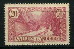 ANDORRE ( POSTE ) : Y&T N°  30  TIMBRE  NEUF  AVEC  TRACE  DE  CHARNIERE , A VOIR .