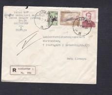 Marcophilie Gaziantep Turquie Recommande Registred  Vers Stuttgart Allemagne - 1921-... République