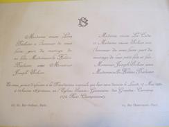 Héléne BECHETER Et Joseph SOHIER,/Eglise Sainte Geneviéve Des Grandes Carriéres, Paris /1920   FPM31 - Wedding