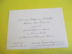 Carte D'Invitation / Comtesse Philippe De NADAILLAC Et Mme DUCRU /Nouveau Cercle/Paris/Années 70   FPM33 - Wedding