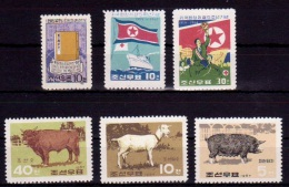 (081,85,94) North Korea / Coree Du Nord  1962-67 / Japan / Book / Animals   ** / Mnh  Michel 430,538-39,769-71 - Corea Del Norte