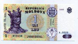Moldavia - 1999 - Banconota Da 1 Leu - Nuova -  (FDC1551) - Moldavia