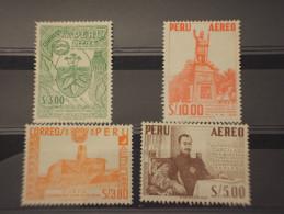 PERU' - P.A. 1960 SOGGETTI VARI 4 VALORI(3 S. Tabacco) - NUOVI(+) - Peru