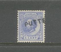 Nvph 19 Met Langstempel Putten - 1852-1890 (Guillaume III)