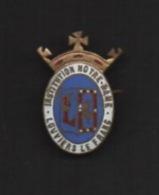 Broche En Laiton. émail. Instituton Notre-Dame . LOUVIERS LE FRANC . - Religion & Esotérisme