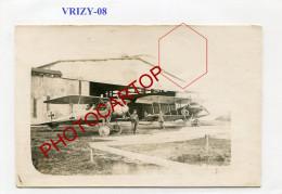 VRIZY-Terrain D'Aviation Allemand-AVIONS-CARTE PHOTO Allemande-Guerre 14-18-1 WK-Fliegerei-FRANCE-08-Militaria- - France