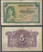 ESPAGNE SPANIEN SPAIN ESPAÑA 1935 5 PTAS REPÚBLICA ESPAÑA - 5 Pesetas
