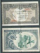 ESPAGNE SPANIEN SPAIN ESPAÑA 1937 10 PTAS BANCO ESPAÑA-BILBAO (EUZKADI) - [ 2] 1931-1936 : République