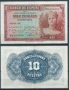 ESPAGNE SPANIEN SPAIN ESPAÑA 1935 10 PTAS REPÚBLICA ESPAÑOLA - [ 2] 1931-1936 : République
