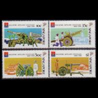 SINGAPORE 1988 - Scott# 518-21 Artillery Cent. Set Of 4 MNH - Singapore (1959-...)