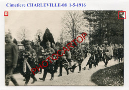 CIMETIERE-Enterrement-CHARLEVILLE-Ministre-Generaux-CARTE PHOTO Allemande-Guerre 14-18-1 WK-FRANCE-08-Militaria- - Charleville