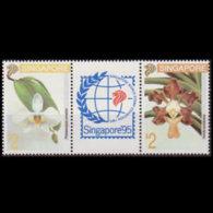 SINGAPORE 1993 - Scott# 665a Flowers Set Of 2 MNH - Singapore (1959-...)