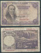 ESPAGNE SPANIEN SPAIN ESPAÑA 1946 25 FEBRERO 25 PTAS ESTADO ESPAÑOL - 25 Pesetas