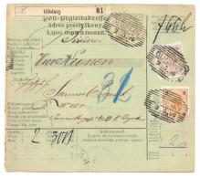 Post-Begleitadresse, Österreichisch Polen, Gliniany Bei Lemberg 1900 Nach Wien - Ganzsachen