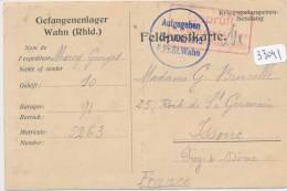 CPA - Allemagne ( Militaria) - Korrespondenz Aus Gefangenenlager Wahn ( Pli) Für Issoire - Allemagne