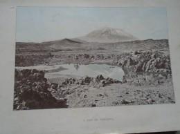 D143011.134 AFK -  Espana  Islas Canarias  PICO De Tenerife    -  Old Print Ca 1900  Hungarian Travel Book - Estampes & Gravures