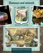 Sierra Leone 2016, Minerals And Dinosaurus, BF - Prehistorisch