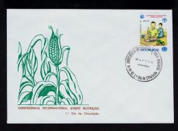 MOZAMBIQUE N.U. Int. Meeting Alimentation FAO Fdc 1992 Maputo Gc2625 - Tegen De Honger