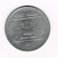 °°° INDIA  2  RUPEES  2007 - Inde