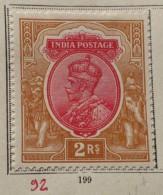 GB India 1911 George V Neuf*  2 R - India (...-1947)