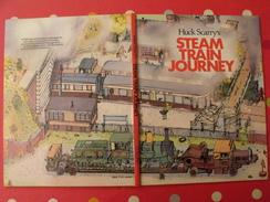 Steam Train Journey. Huck Scarry's. Collins 1979. Locomotive Gare Vapeur Michelin - Children's