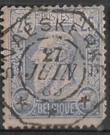 _6s-704:  N° 48: Telegraaf:  SNAESKERKE - 1884-1891 Léopold II