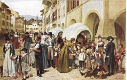 PRO JUVENTUTE-KARTE  → Die Stanser Kinder In Murten  ►17.Februar 1925◄ - Lettres & Documents