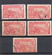 Guadeloupe : 59 OBL (5 Timbres) - Usados