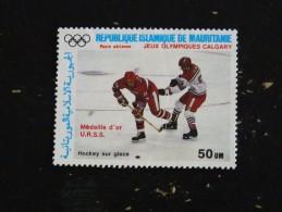 MAURITANIE YT PA 257 NSG - HOCKEY SUR GLACE JEUX OLYMPIQUES CALGARY - Mauritanie (1960-...)