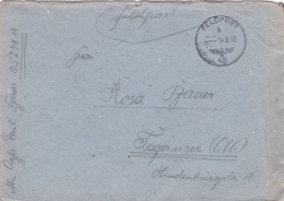 Feldpost WW2: From St. Germain In France - Sicherungs-Regiment 66 (Stab IV) FP 05741A P/m  14.8.1943 - Cover Only (SKO16 - Militaria