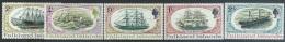 Falkland Islands 1970   Sc#192-6  Ships Set  MLH* 2016 Scott Value $7.25 - Barcos