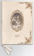 Calendrier 1914, 1 Page Par Mois + Notes, Couverture Gaufrée Avec Médaillon Et Dorures, état Neuf  - Format 10,5 X 14,5 - Calendriers