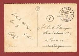 Noodstempel Fortune Brugge 14 Op Zichtkaart 7/12/1919 - Postmark Collection