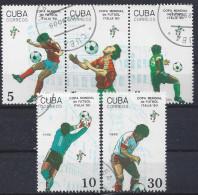 """Cuba  1990  Football World Cup """"Italia`90"""" (o) - Cuba"""