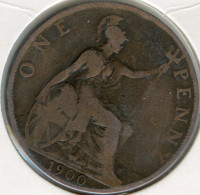Grande-Bretagne Great Britain 1 Penny 1900 KM 790 - D. 1 Penny