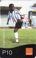 Botswana, Orange Easy Recharge Card, Vincent Phiri, Football P10 - Botswana