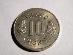 ISLANDE - 10 KRONUR 1970. - Islande