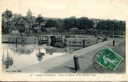 N°56 L -cpa Caen -le Pont Du Canal Et Du Bassin à Flot- - Caen