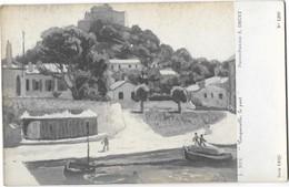 PORQUEROLLES (83) Le Port D'après Une Peinture De L SUE - Porquerolles