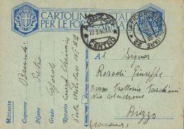FRANCHIGIA WWII POSTA MILITARE 22 1940 TIRANA ALBANIA X AREZZO - 1900-44 Vittorio Emanuele III