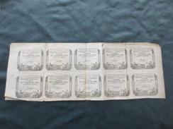 Assignats  De 50 Sols  Planche - Assignats & Mandats Territoriaux