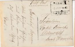 """REBECQ:Cp En Feldpost (.) CHF : REBECQ/ 3.1.1915/ Fa (Pour Cette Série , Tapez """"MaCollecFran"""" Dans Moteur De Recherche - [OC1/25] General Gov."""